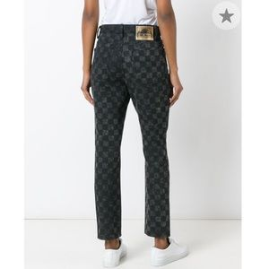 NWT Marc Jacobs Checker Print Flood Stovepipe Jean
